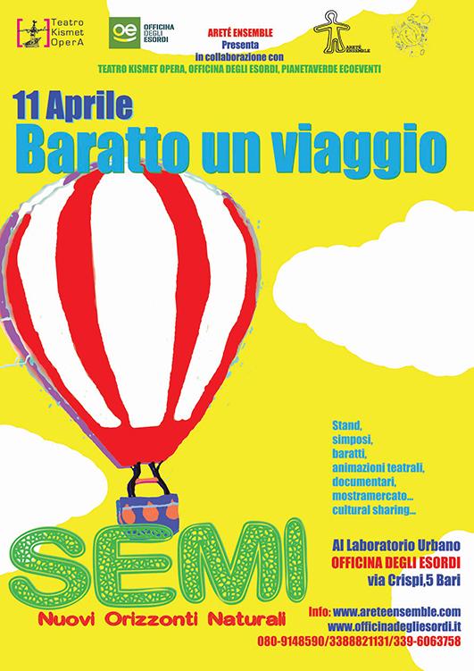 Flyer Baratto un Viaggio Front Web