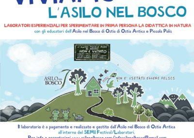Loca SEMI 2018 Cicogna Naturale Workshop ASILO NEL BOSCO Sett 2018